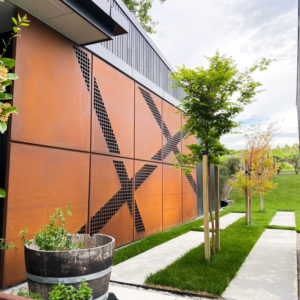 Corten Steel Steel Frame Garage Door