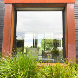 Rusten Corten Steel Box Seat Window